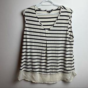 Black and white stripped tang top XL